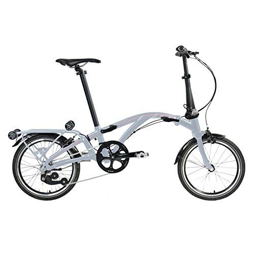 Dahon Faltrad Curl i4 4-Gang 16 Zoll Klapp Fahrrad Silber Anthrazit Uni Cityrad Bike, 9742, Farbe Silber