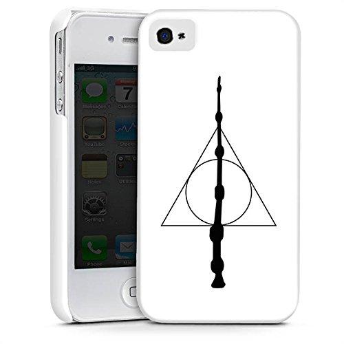 Apple iPhone 6 Hülle Case Handyhülle Zauberstab Harry Potter Heiligtümer Premium Case glänzend