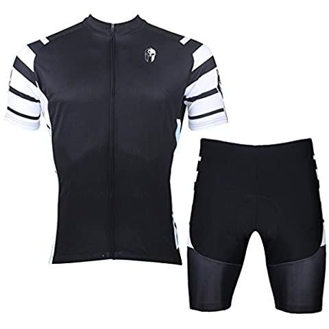 ilpadino Herren Short Sleeve Fahrrad Jersey schwarz S-6X L Medium 007-Shorts Set-Men