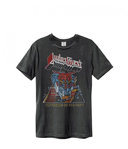 Amplified Judas Priest Defender of the Faith T-Shirt, Größe:M;Farbe:charcoal