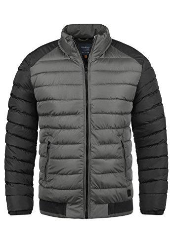 Blend Gallus Herren Winter Jacke Steppjacke Winterjacke gefüttert mit Stehkragen, Größe:M, Farbe:Granite (70147)