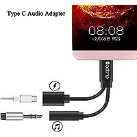 Typ C USB C auf 3,5 mm Audio Jack Adapter, ADTRIP Type C Kopfhörers Adapter für Huawei Mate 10 Pro, Xiaomi 6, LeTV Le 2, Le 2 Pro, Le Max 2, Le Pro 3, Le S3, Smartisan Pro und Nubia Z17
