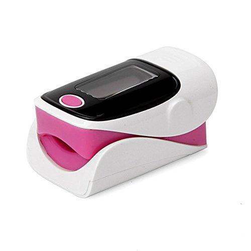 SDGDFXCHN Digitales OLED-Pulsoximeter für die Fingerkuppe RZ001 SPO2 Pulsfrequenz Sauerstoff Monitor Diagnosegerät Gesundheitspflege, Rose, 62 * 32 * 33mm