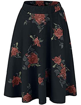 Vive Maria Red Rose Skirt Falda Negro