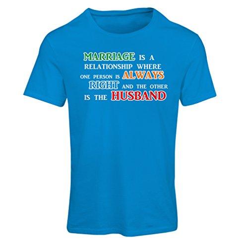 Frauen T-Shirt Hochzeitsjubiläum, lustige Ehe wünscht Botschaften (Medium Blau Mehrfarben) (Chevy Totenkopf)