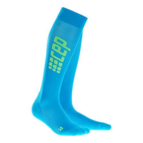 CEP - Run Ultralight Socks für Herren   Extra leichte knielange Laufsocken in blau/grün   Größe III