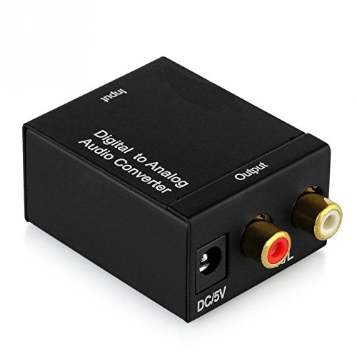 Eatech Digital Optical Coaxial Toslink to Analog RCA Audio Signal Converter Adapter