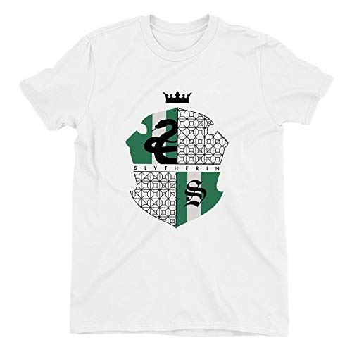Harry Potter Slytherin Green & Black Crest Ladies White T-Shirt