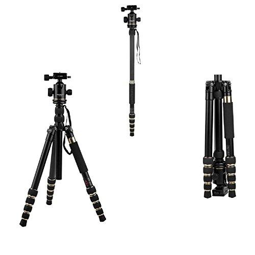 HUTACT Stativ Kamera, Monopod Kit & Ball Head Kompakt für Canon, Sony, Nikon, Samsung, Panasonic, Olympus, Kodak, Fuji, Kameras und Videokamera