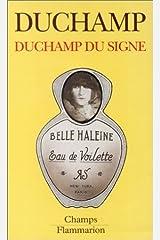 Duchamp Du Signe by Marcel Duchamp (1994-09-27) Paperback
