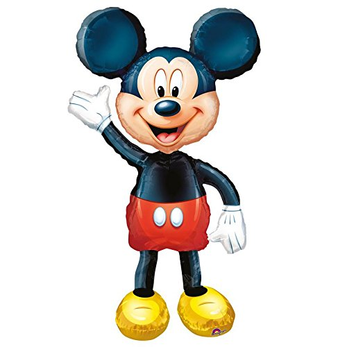 Anagram 0831801 - Party und Dekoration - Folienballon Air Walker - Disney Mickey Mouse, circa 96 x 132 cm