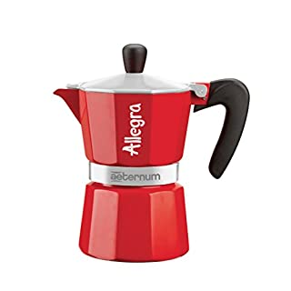 Aeternum Allegra Espresso Maker for 1 Cup, Red