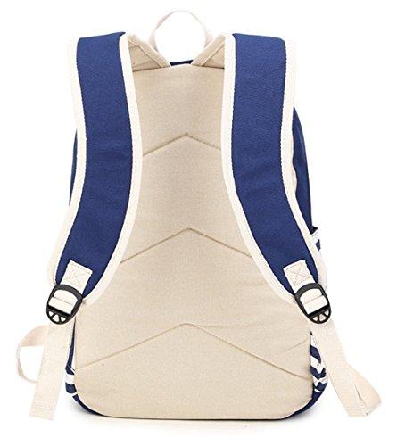 Longzibog Dual verstellbare Schultergurte und Hängeschlaufenband Mode Maedchen Rucksack Schulranzen Rot