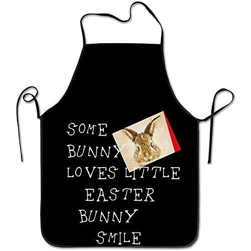 DSFA Küchenschürze für Frauen Malen Schürze Kleid Männer Kochen Schürze Schürze Einige Bunny Loves Little Easter Bunny Smile Schürze