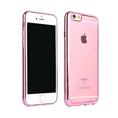 ECENCE APPLE IPHONE 6 6S (4,7) SLIM TPU CASE SCHUTZ HÜLLE HANDY TASCHE COVER TRANSPARENT DURCHSICHTIG CLEAR 12020501 Pink