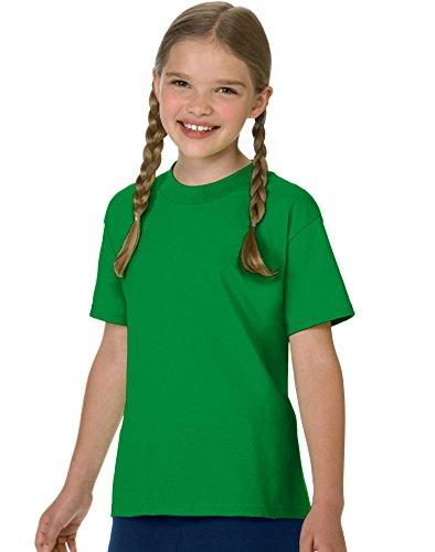 Hanes Jungen T-Shirt, Shamrock Green, M - Hanes Kinder T-shirt