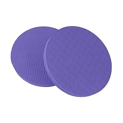 VORCOOL Yoga Kissen Pad Yogamatte Unterstützung Schutz für Knie Handgelenk Ellenbogen 2Pcs (Lila)
