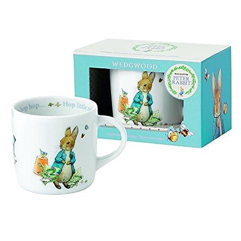 Wedgwood Boy's Peter Rabbit Single Handled Mug, White and Blue by Wedgwood