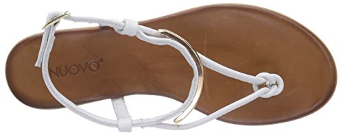 Donna WHITE Inuovo LEATHER Bianco Aperti Sandali SUNKISS tPt0gqXz