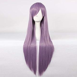 HOOLAZA Purple Long Straight Wig Rozen Maiden Barasuishou Rosen Kristall Yunoki Azuma Sanjougahara Hitagi for the Halloween Party Cosplay Wigs