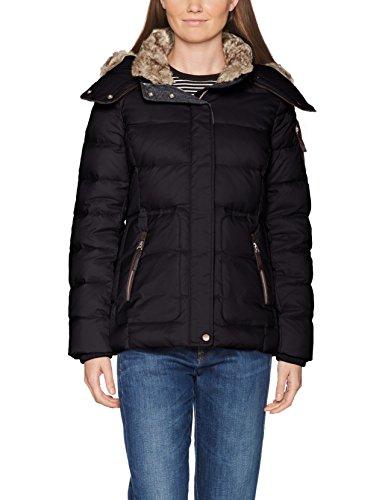 ESPRIT Damen Jacke 087EE1G011, Schwarz (Black 001), X-Small (Schwarze Gesteppte Daunenjacke)