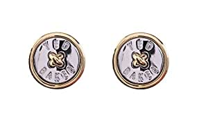 Ted Baker Button Stud Earring - Gold & Silver