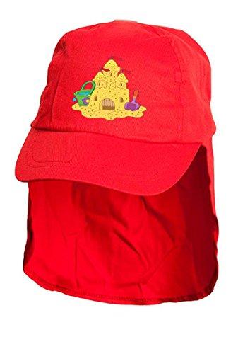 Pendenti per bambini, colore: rosso con visiera legionari stile. Basta taglia unica.