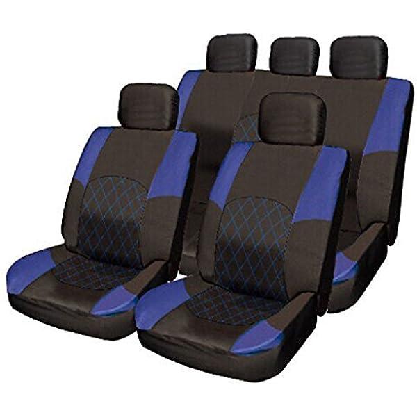 Wheels N Bits Suzuki Vitara Ignis Liana SX4 X-90 BLUE /& BLACK Cloth Seat Cover Set Split Rear Seat
