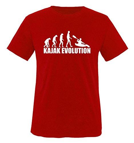 KAJAK EVOLUTION -Herren T-Shirt in Rot/Weiss Gr. S