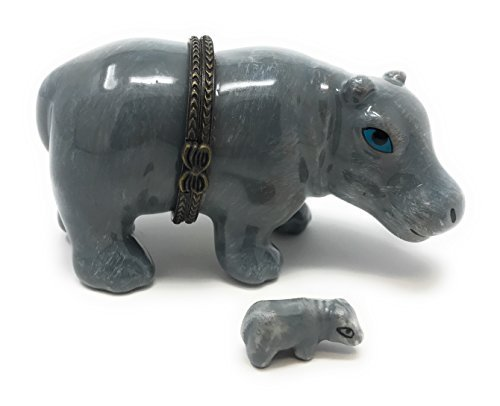 Safari Nilpferd aufklappbaren Schmuckkästchen biokompatibel -