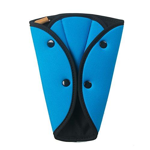 Komfortabel Kinder Auto Schulterpolster Baby Gurtpolster Kindersitz Atmungsaktiv Sicherheitsgurt Polster Blau Schulterschutz für Jungen,Mädchen