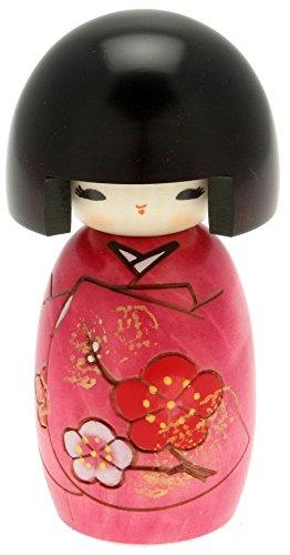 Usaburo Japanische Kokeshi Puppe, Akiko 's Purple Kimono