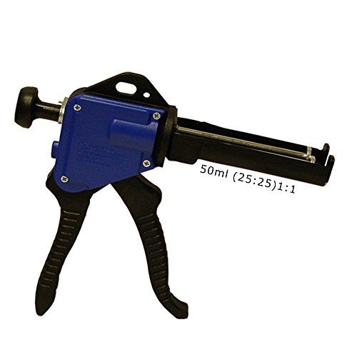 Dosierpistole für 50ml Kartuschen Kartuschenpistole Kunststoffkleber 2K Metallkleber -