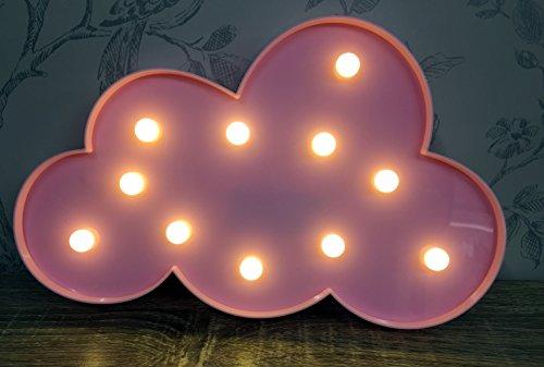 Mezzaluna cadeaux Rose à LED Cloud Circus lumière ~ Décoration murale à suspendre