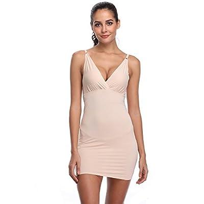 e42d0d3154087 Joyshaper Full Slips for Women Black Nude Long Camisole Control Bodycon  Tank Dress Underdress Underwear Slimming ...