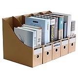 OFFIDIX Oficina 5 niveles Caja de almacenamiento de escritorio de papel Kraft A4 Organizador de papel de soporte de documentos para oficina en casa Caja de almacenamiento de archivos de papel DIY