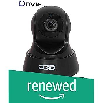 (Renewed) D3D 2.0 MP Wireless Full HD 1080P IP Wifi CCTV Indoor Security Camera (Black)