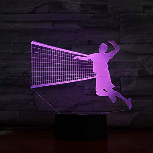 SHJDY Volleyball Netz- Kleines Nachtlicht,3D-Schlaflicht,Led-Blitz,Fernbedienung,Usb-Netzteil,Zur Raumdekoration Geeignet,Geschenk Für Kinder