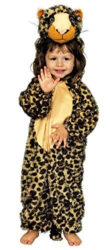 narrenkiste K312524-98-104-A leoprint-braun Kinder Mädchen Junge Leopard Kostüm Gr.98-104