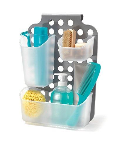 Domopak living organizzatore modulabile per doccia-anta mobiletto, bianco/grigio, 12.5 x 25.5 x 35.5 cm