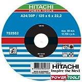 Hitachi-752552-Disque à tronçonner 125 x 6 x 22,2 mm Métal (vente x25 ud)