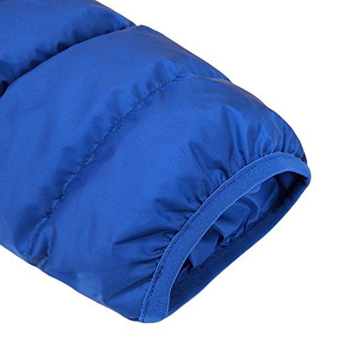 CHIC-CHIC Herren Daunenjacke Steppjacke Wärmejacke Down Jacket Winter Mantel mit Tasche warm leicht Hellblau