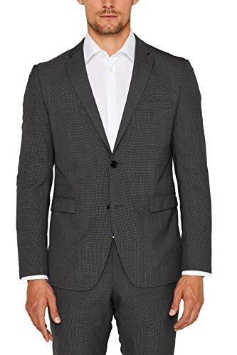 Wolle Blazer Hose Anzug (ESPRIT Collection Herren 996EO2G901 Anzugjacke, Grau (Dark Grey 5 024), 46)