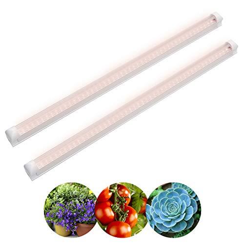 LED Luz de la planta 18W 120CM T8 lampara de planta rosa, 2 paquetes, lampara de crecimiento 230V para plantas interior, planta cultivo, planta de invernadero de hidroponía, estante de cultivo