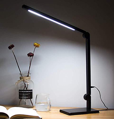 Kitlit Lámpara Escritorio LED Metal,Lámpara de Trabajo de Arquitecto,Lámparas Mesa Cuidado de Ojos,Brillo Infinito Color Regulable,Plegable Luz,Control Táctil,Luz de Lectura Trabajo,Estudiar,Oficina