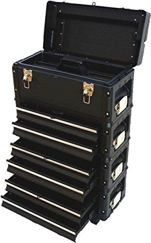 Metall Werkzeugtrolley XXL Type B3-B BLACK EDITION mit Schubladenverriegelung und Schloss von AS-S