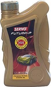 Servo Futura P 10W-40 API SM Premium Petrol Engine Oil for New Generation Cars (4 L)