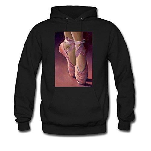 HGLee Printed Personalized Custom Ballet Women's Sweatshirts Hooded Hoodies Black--3