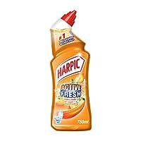 Harpic Toilet Cleaner Liquid Active Fresh Peach & Jasmine, 750ml