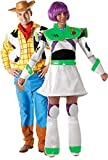 Uomo Donna Coppia Disney Woody & Buzz Lightyear di Toy Story libri Tag per Halloween Costume Travestimento Outfit, colore